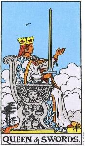 kardu karaliene, taro, taro kortos, kardai, kardu, karaliene, burimas taro kortomis, burimai taro, taro burimai internetu