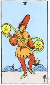 pentakliai, du pentakliai, taro korta, taro kortos, taro, magija, burimai, burimai taro kortomis