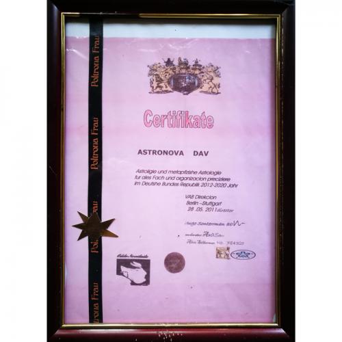 astrologijos sertifikatas, sertifikatas, astrologija, Odile Norvilaite, burejos sertifikatas, burejos, bureja