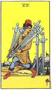 burimas taro kortomis, septyni kardai, septyni, kardai, taro, taro kortos, taro korta, magija, burimai, burimas taro